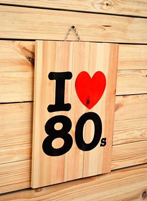 Oldwooddesign I Love 80 Tablo Renkli
